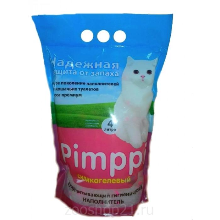 Pimppi Силикагелевый наполнитель розовый, 4 л