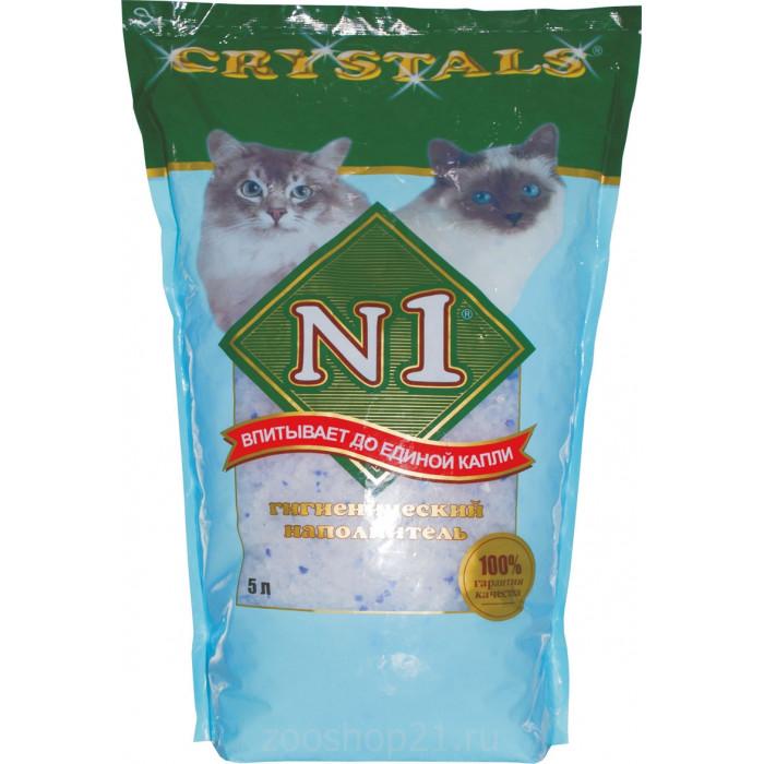 N1 Силикагелевый наполнитель (Crystals) синий 1.21 кг, 3 л