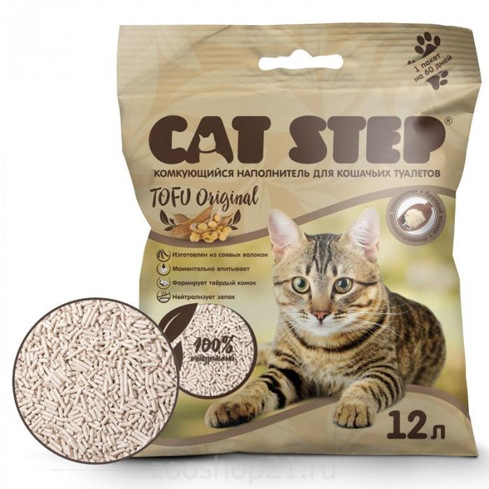 CAT STEP Tofu Original растительный комкующийся, 12 л