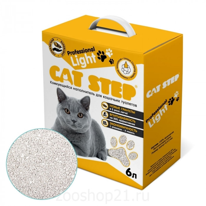CAT STEP Professional Light бентонитовый 6 л