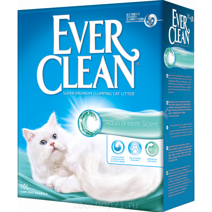 Ever Clean Комкующийся наполнитель с ароматом морского бриза Aqua Breeze, 10 л