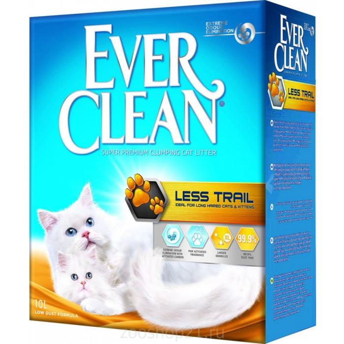 Ever Clean Комкующийся наполнитель для длинношерстных кошек , Less Trail 10 кг