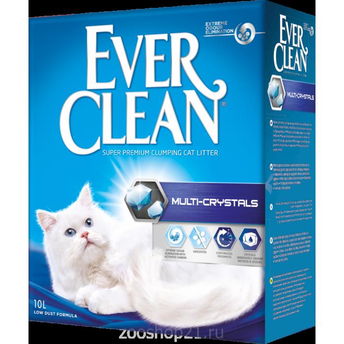 Ever Clean Комкующийся наполнитель с силикагелем, Multi Crystals, 10 л