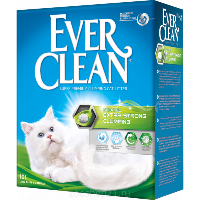 Ever Clean Комкующийся наполнитель с ароматом Extra Strong Clumping Scented, 10 л
