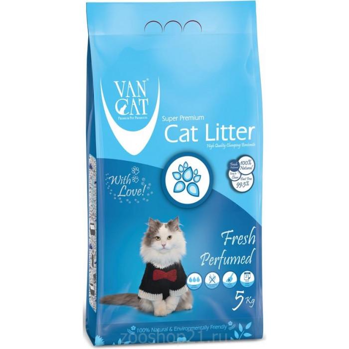 Van Cat Комкующийся наполнитель без пыли с ароматом Весенней свежести пакет, 5 кг