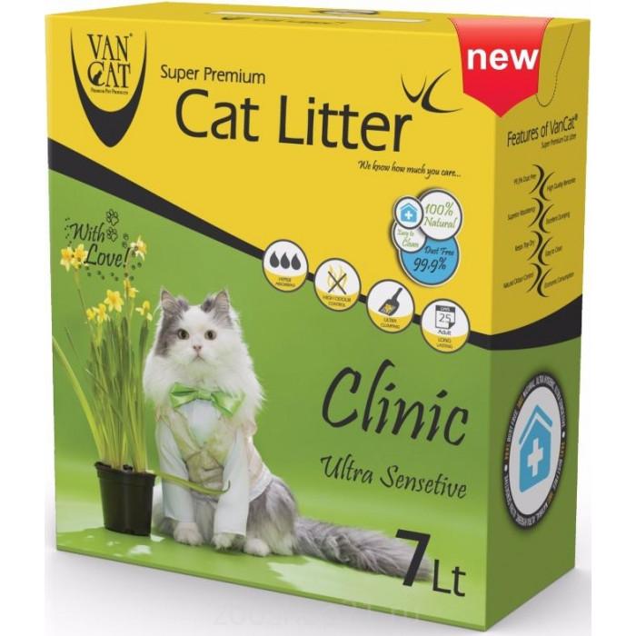 Van Cat Комкующийся наполнитель с Антибактериальным эффектом, на 7л, коробка
