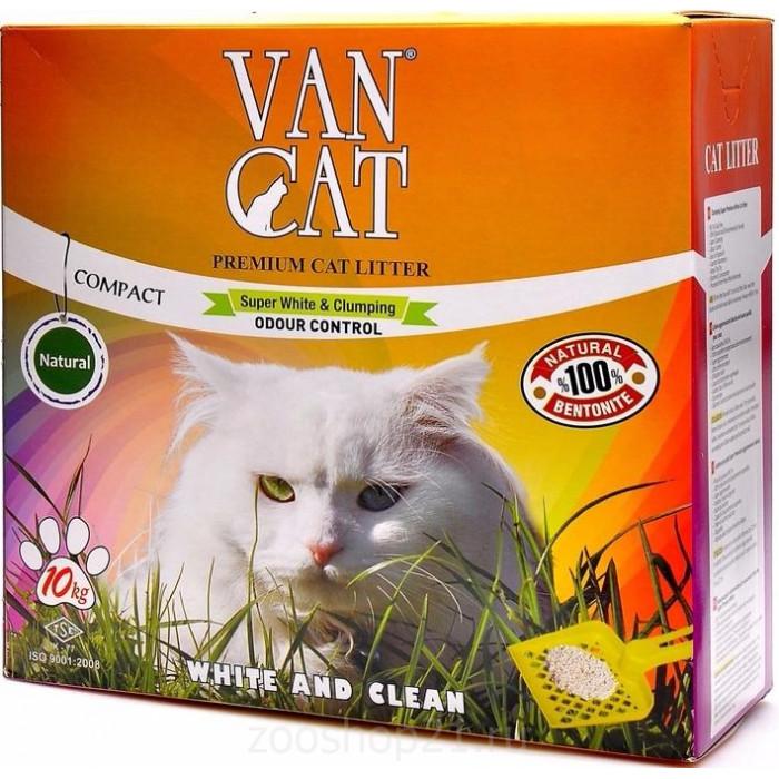 Van Cat Комкующийся наполнитель без пыли коробка, 10 кг