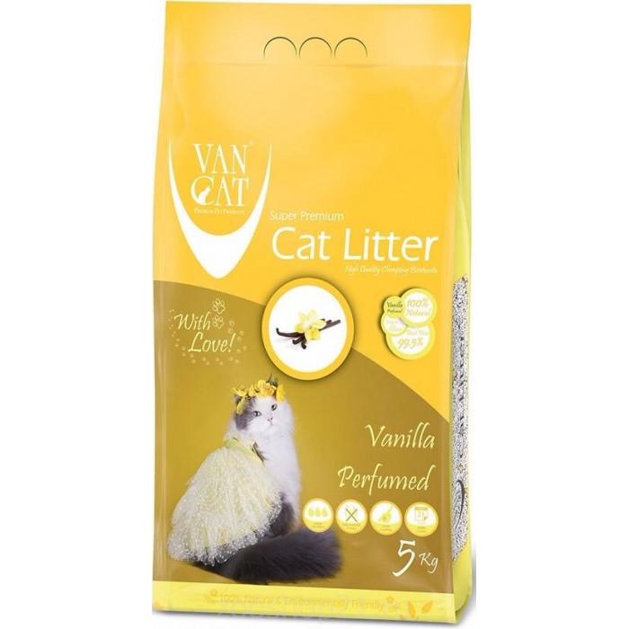 Van Cat Комкующийся наполнитель без пыли с ароматом Ванили пакет, 5 кг