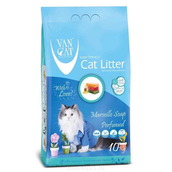 Van Cat Комкующийся наполнитель без пыли с ароматом Марсельского мыла, 10 кг