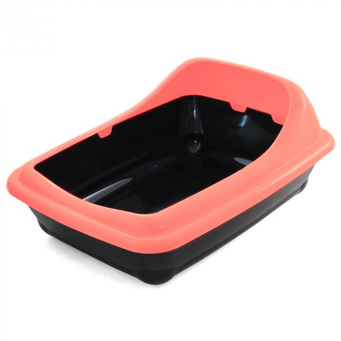 """Туалет для кошек прямоугольный с ассиметричным бортом """"Волна"""", 455*355*200мм"""