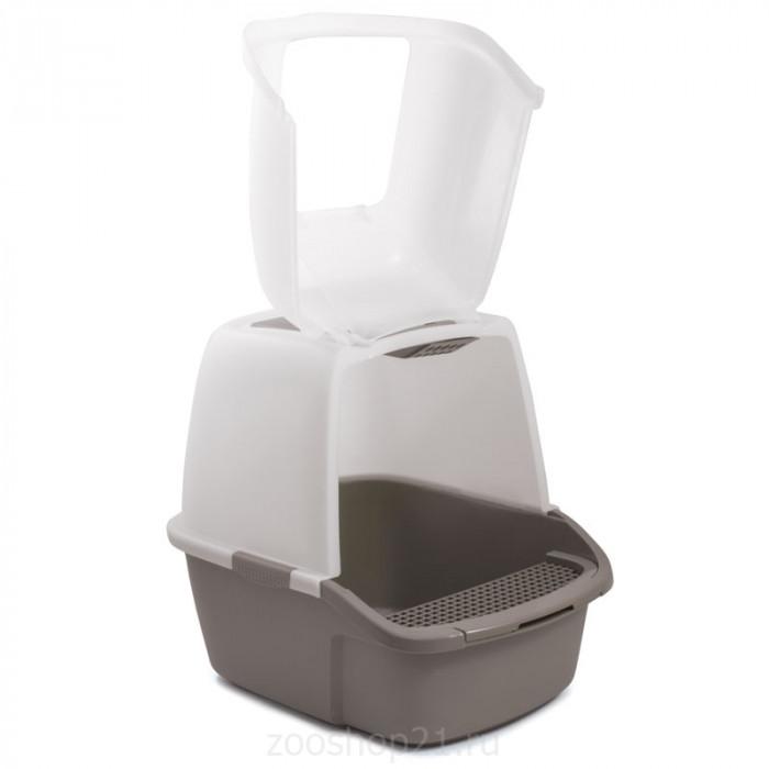 Триол Туалет P900 для кошек закрытый (совок и сетка в комплекте), 513*388*433мм