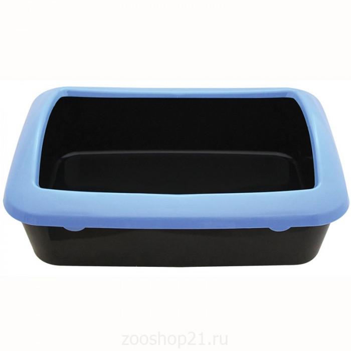 Триол Туалет для кошек Р547 с бортом 420*300*145мм