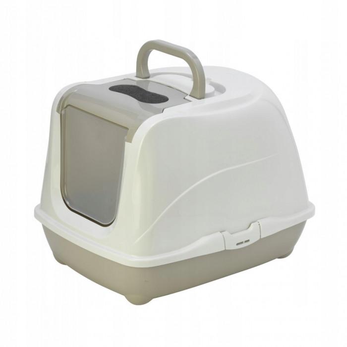 Туалет-домик Flip с угольным фильтром, 50х39х37см, теплый серый