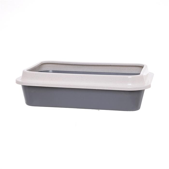 Сибирская кошка туалет для кошек глубокий с бортиком, 37x27x9.5 см