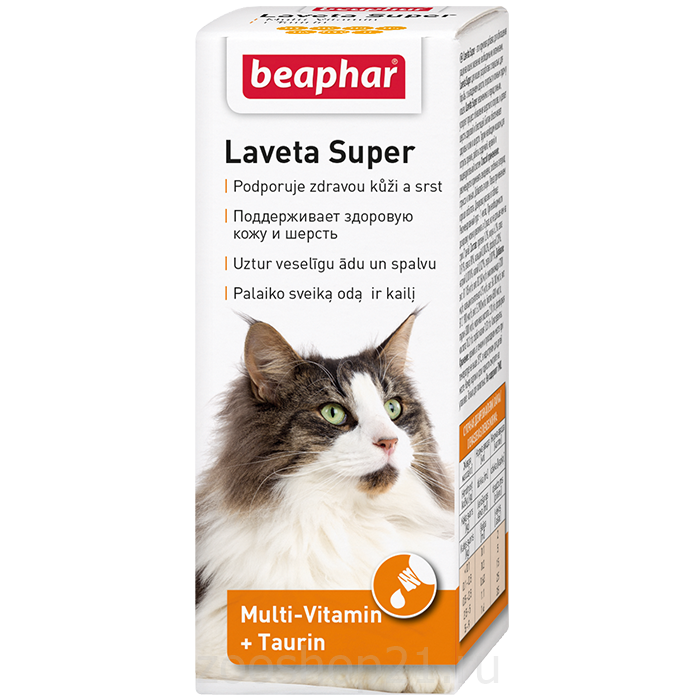 Beaphar Витамины для кожи и шерсти Кошек, масло (Laveta Super for Cats) 500г
