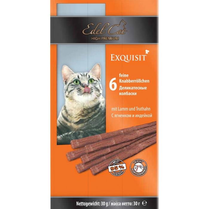 Edel Cat Колбаски c ягненком и индейкой 6 шт, 0.03 кг