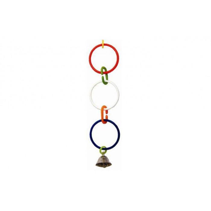 Игрушка для попугая - кольца с колокольчиком