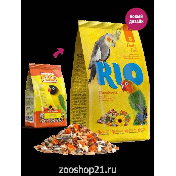 Rio для средних попугаев, 500 г