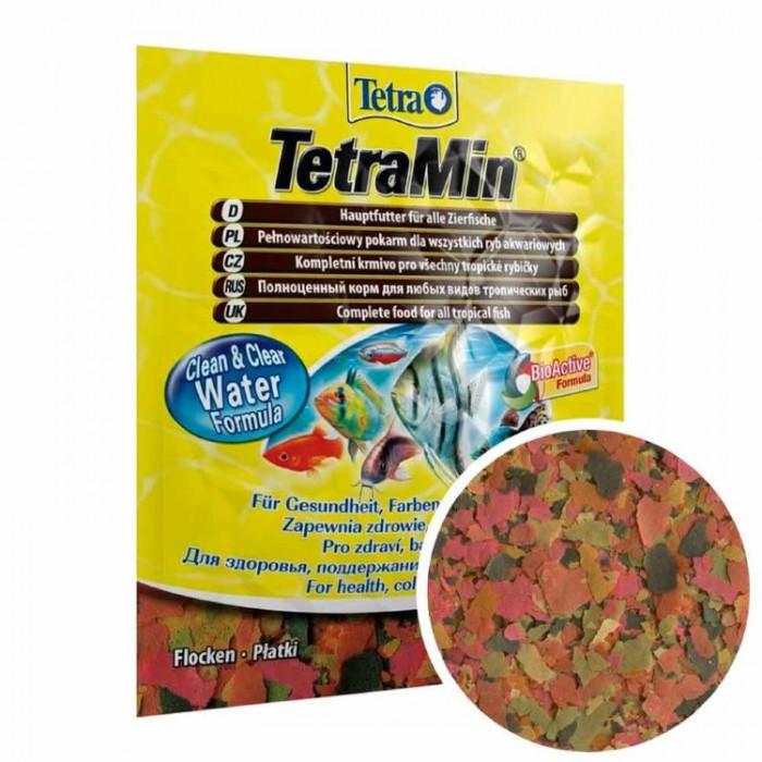 Tetra TetraMin корм для всех видов рыб в виде хлопьев, 12 г