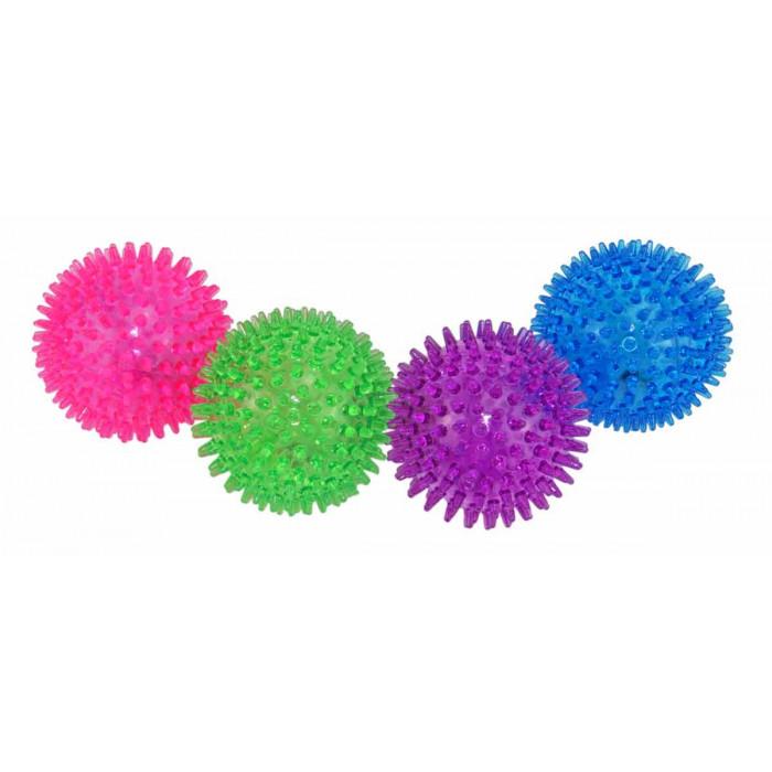 Dogman Игрушка Мяч пищащий светящийся, 8,5 см