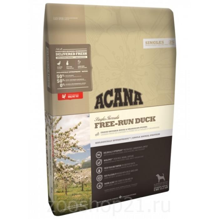 Корм для собак Acana FREE-RUN DUCK для собак с чувствительным пищеварением с уткой, 2 кг