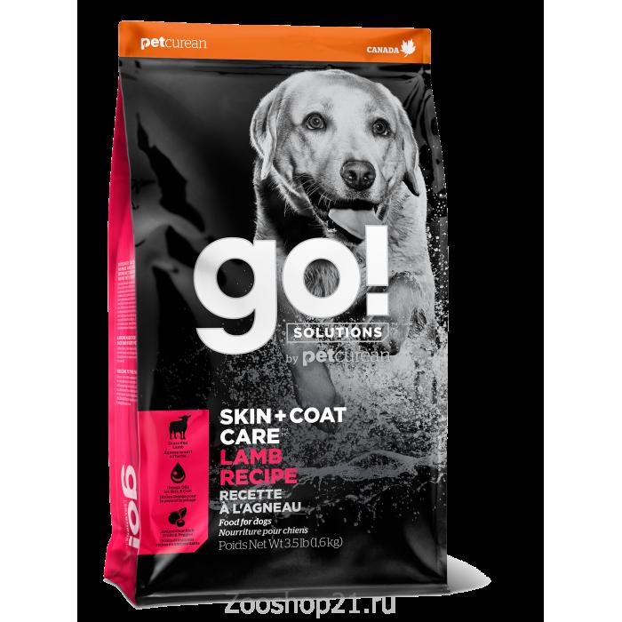 Корм Go! Skin & Coat Lamb Meal для собак и щенков с Ягненком, 1.59 кг
