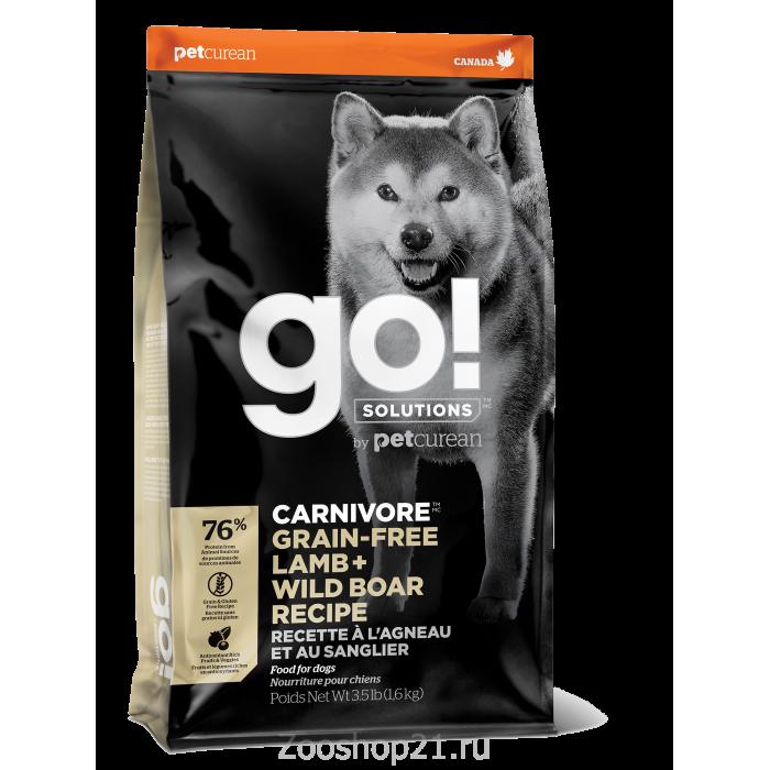 Корм GO! беззерновой для собак всех возрастов c ягненком и мясом дикого кабана, 1.59 кг