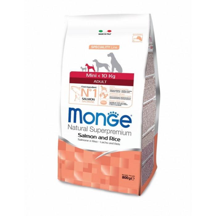Корм Monge Dog Speciality Mini для взрослых собак мелких пород лосось с рисом, 2.5 кг
