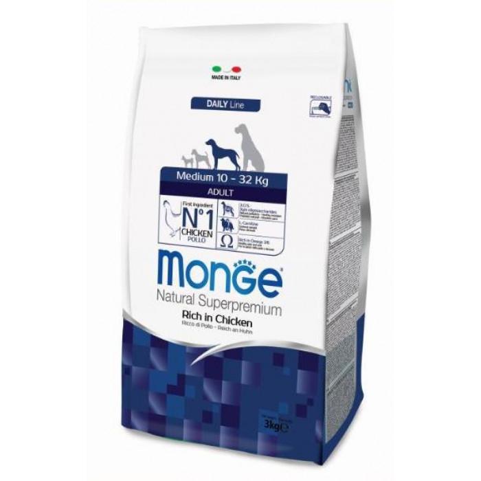 Корм Monge Dog Medium для взрослых собак средних пород, 12 кг