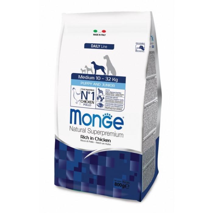 Корм Monge Dog Medium для щенков средних пород, 800 г
