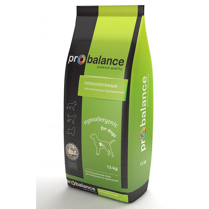 Корм ProBalance Гипоаллергенный для взрослых собак всех пород, 15 кг