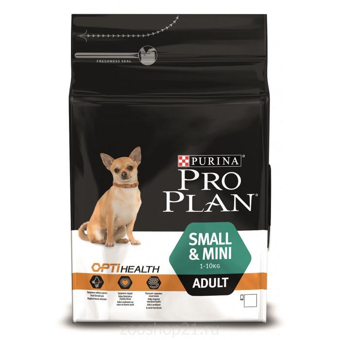 Корм Pro Plan Small and Mini для собак мелких и карликовых пород до 10 кг с курицей, 3 кг
