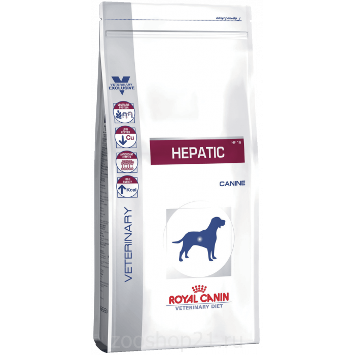 Корм Royal Canin Hepatic HF 16 для собак при лечении печени, 1.5 кг