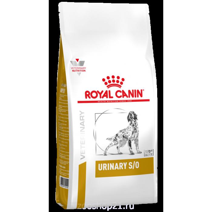 Корм Royal Canin Urinary S/O LP18 для собак при МКБ, 2 кг