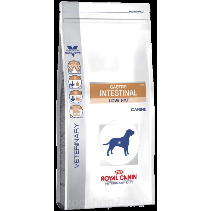 Корм Royal Canin Gastro Intestinal Low Fat LF22 для собак при лечении ЖКТ (низкокалор-ый) , 1.5 кг