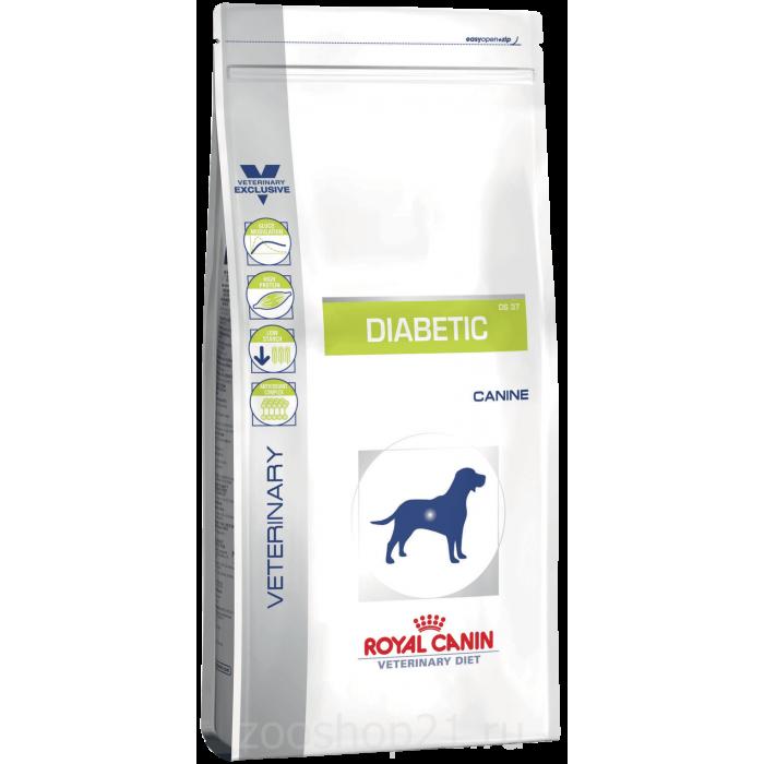 Корм Royal Canin Diabetic DS 37 для собак при сахарном диабете, 1.5 кг