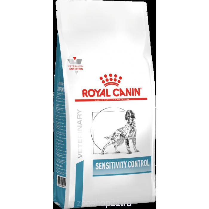 Корм Royal Canin Sensitivity Control для собак с пищевой аллергией/непереносимость, с уткой, 1.5 кг
