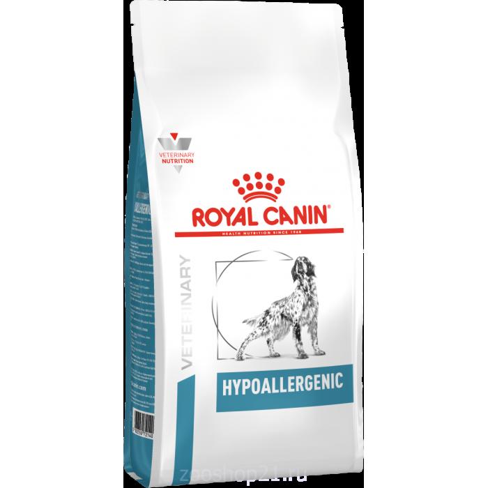 Корм Royal Canin Hypoallergenic для собак с пищевой аллергией/непереносимостью, 2 кг