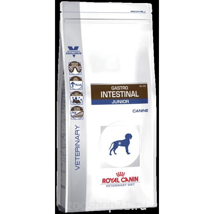 Корм Royal Canin Gastro Intentinal Junior GIJ 29 для щенков до 1 года при нарушении пищеварения, 1 кг