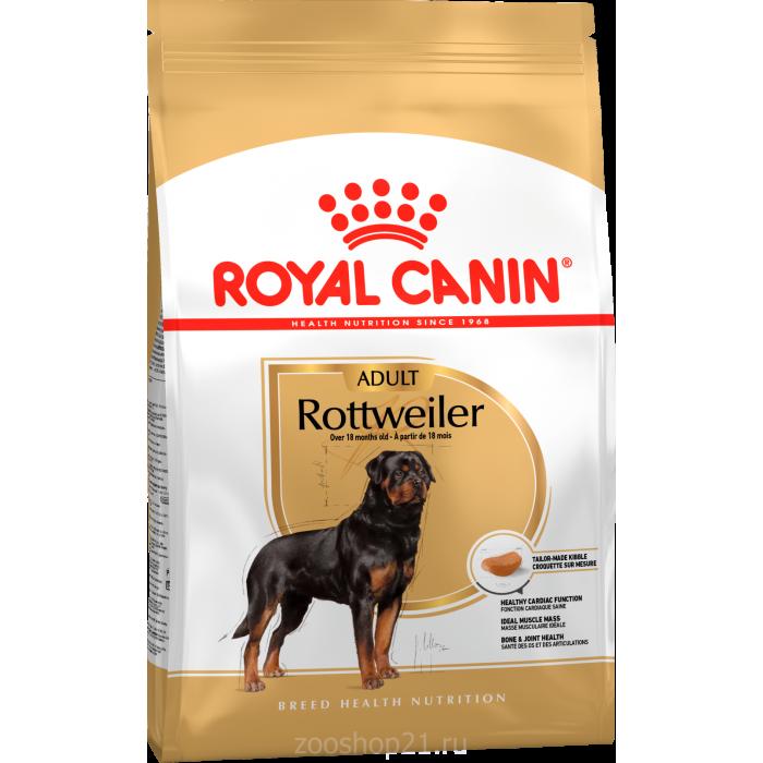Корм Royal Canin Rottweiler Adult для ротвейлера старше 18 мес., 12 кг