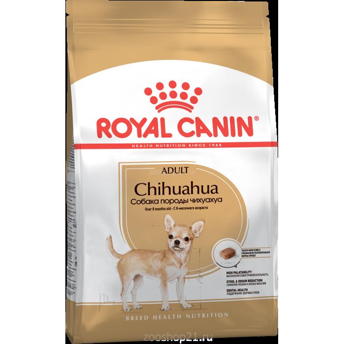 Корм Royal Canin Chihuahua Adult для чихуахуа старше 8 мес., 500 г