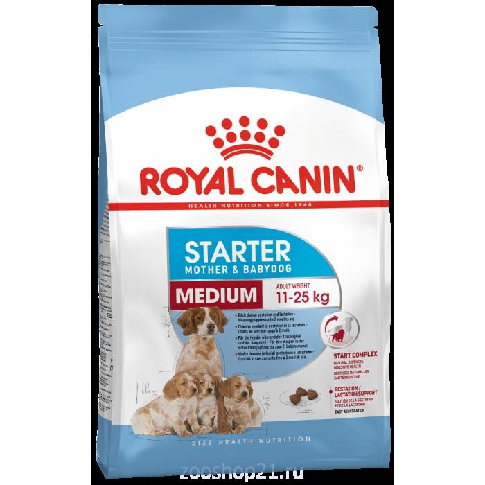 Корм Royal Canin Medium Starter для щенков средних пород до 2 мес., беременных и кормящих сук, 4 кг