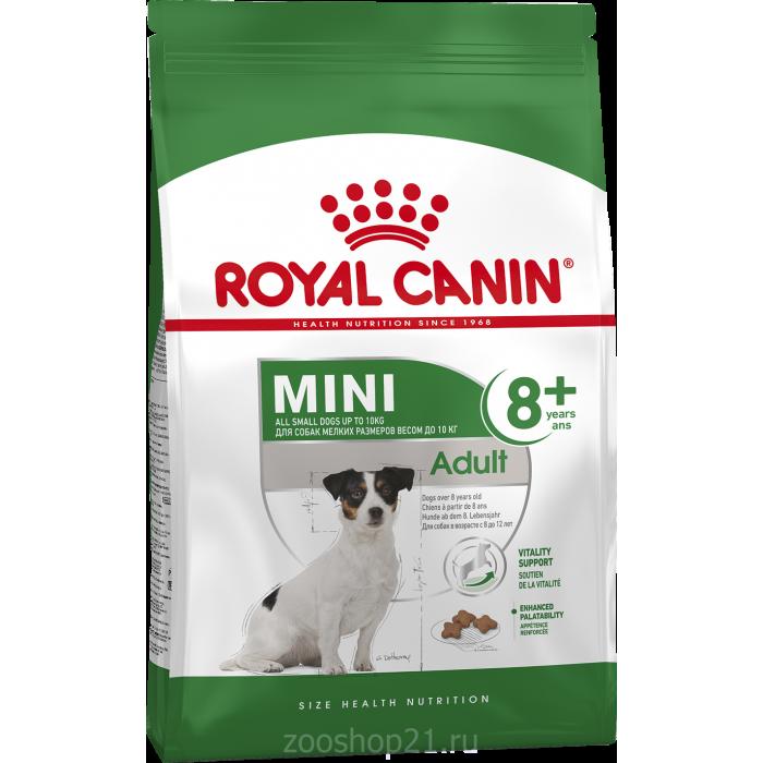 Корм Royal Canin Mini Adult 8+ для собак малых пород (до 10 кг), старше 8 лет, 2 кг