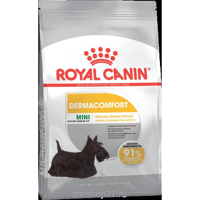 Корм Royal Canin Mini Dermacomfort для собак малых пород (до 10 кг) с чувствительной кожей, 1 кг
