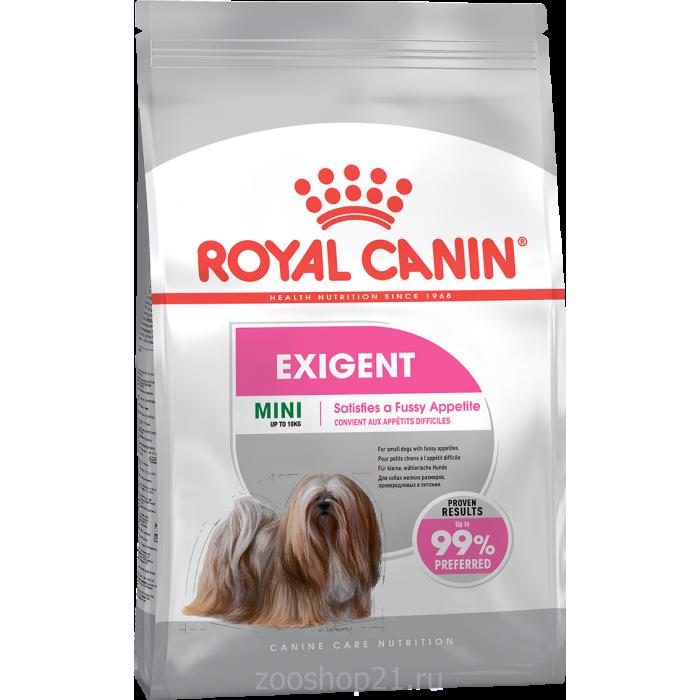 Корм Royal Canin Mini Exigent для собак малых пород (до 10 кг) привередливых в питании, 1 кг