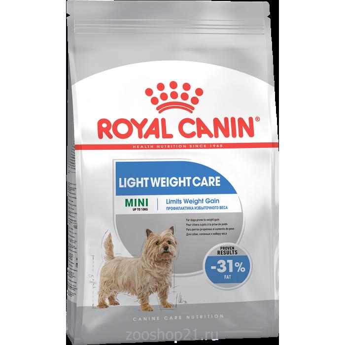 Корм Royal Canin Mini Light Weight Care для собак малых пород (до 10 кг) при избыточном весе, 1 кг