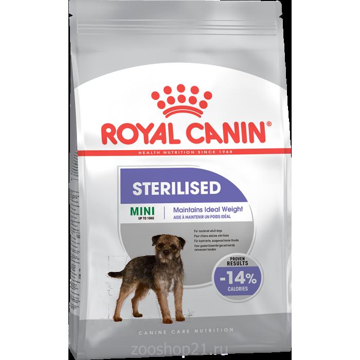 Корм Royal Canin Mini Sterilised для стерилизованных собак малых пород (до 10 кг), 3 кг