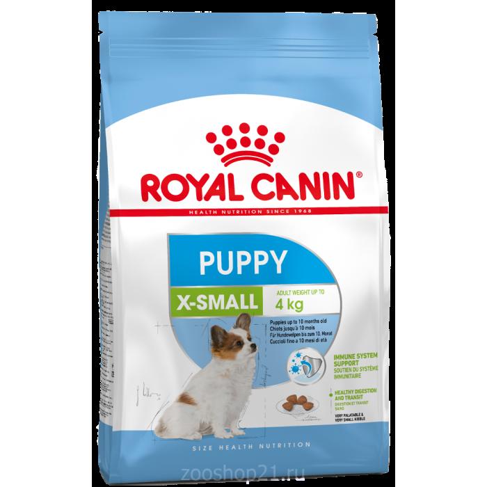 Корм Royal Canin X-Small Puppy для щенков миниатюрных пород 2-10 мес., 500 г