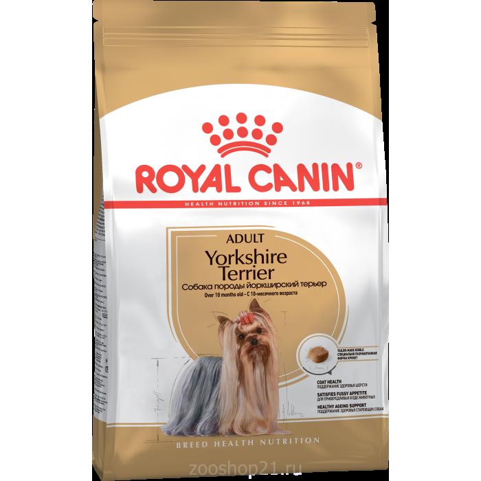 Корм Royal Canin Yorkshire Terrier Adult для йоркширского терьера старше 10 мес., 1.5 кг
