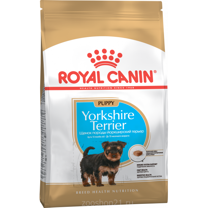 Корм Royal Canin Yorkshire Terrier Puppy для щенков йоркширского терьера до 10 мес., 500г